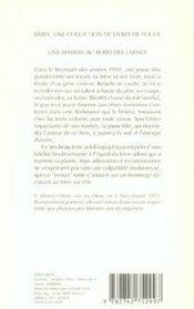 Une Maison Au Bord Des Larmes - 4ème de couverture - Format classique