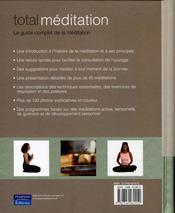 Total meditation - 4ème de couverture - Format classique