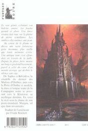 La Compagnie Noire T.8 ; Elle Est Les Tenebres T.2 - 4ème de couverture - Format classique