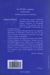 Peches Capitaux - 4ème de couverture - Format classique