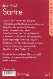 Jean-Paul Sartre - 4ème de couverture - Format classique