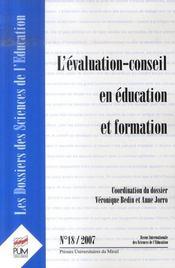 L'évaluation-conseil en éducation et formation - Intérieur - Format classique