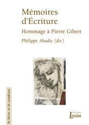 Memoires D Ecriture - Couverture - Format classique