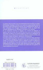 Delegation De Gestion Et Contractualisation Interne - 4ème de couverture - Format classique