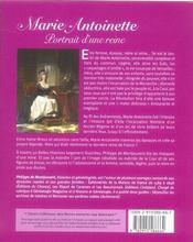 Marie-antoinette, portrait d'une reine - 4ème de couverture - Format classique