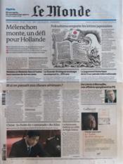 Monde (Le) N°20887 du 16/03/2012 - Couverture - Format classique