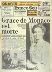 France Soir Quarte N°11844 du 15/09/1982 - Couverture - Format classique