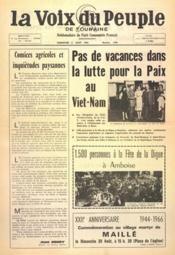 Voix Du Peuple De Touraine (La) N°1308 du 21/08/1966 - Couverture - Format classique