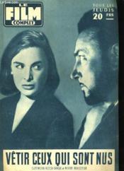 Film Complet N° 609 - Vetir Ceux Qui Sont Nus - Couverture - Format classique