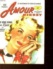 Amour Digest N°5 - Je Vous Donne Mes Reves - Couverture - Format classique