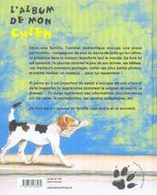 L'album de mon chien - 4ème de couverture - Format classique