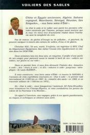 Voiliers Des Sables Aux Bons Soins D'Eole - 4ème de couverture - Format classique