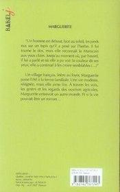 Marguerite - 4ème de couverture - Format classique