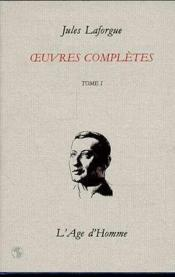 Oeuvres Completes Tome 1 - Couverture - Format classique