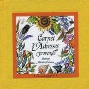 Mini-carnet d'adresses provençal - Couverture - Format classique