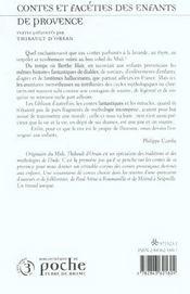 Contes Et Faceties Des Enfants De Provence - 4ème de couverture - Format classique