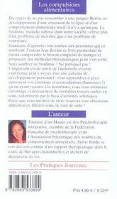 Les compulsions alimentaires ; se liberer de la boulimie - 4ème de couverture - Format classique