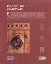 Portes du sud marocain - 4ème de couverture - Format classique