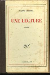 Une Lecture. - Couverture - Format classique