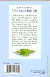 Une Chatte Dans L'Ile - 4ème de couverture - Format classique