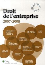 Droit de l'entreprise (édition 2007/2008) - Intérieur - Format classique