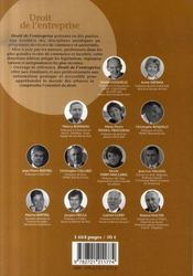 Droit de l'entreprise (édition 2007/2008) - 4ème de couverture - Format classique