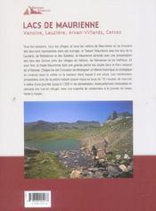Lacs De Maurienne - 4ème de couverture - Format classique