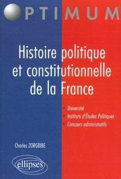Histoire Constitutionnelle De La France Universite Iep Concours Administratifs - Intérieur - Format classique