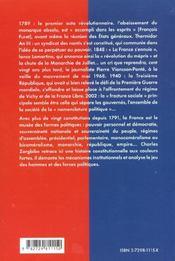 Histoire Constitutionnelle De La France Universite Iep Concours Administratifs - 4ème de couverture - Format classique