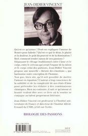 Biologie Des Passions - 4ème de couverture - Format classique