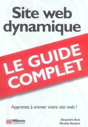 Site web dynamique - Intérieur - Format classique