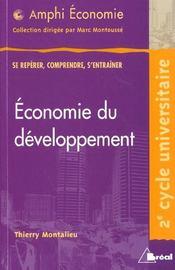 Économie du développement - Intérieur - Format classique