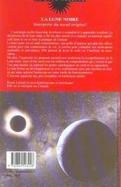 La lune noire, interprete du noeud originel - 4ème de couverture - Format classique
