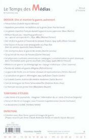 Revue Le Temps Des Medias T.4 ; Dire Et Montrer La Guerre Autrement - 4ème de couverture - Format classique