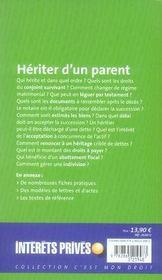 Hériter d'un parent (édition 2007) - 4ème de couverture - Format classique
