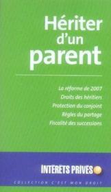 Hériter d'un parent (édition 2007) - Couverture - Format classique