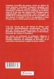 Les Ados-Sacrements. Guide Pastoral Pour L'Intiation Chretienne Des Adolescents. Bapteme, Onfirmatio - 4ème de couverture - Format classique