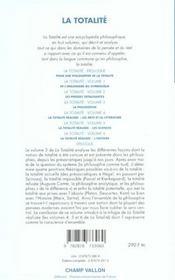 La Totalite 3 - 4ème de couverture - Format classique