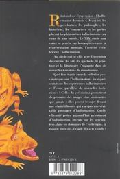 Les Arts De L'Hallucination - 4ème de couverture - Format classique