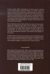 Le paysan aguilar - 4ème de couverture - Format classique