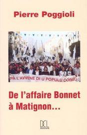 Affaire Bonnet A Matignon (De L') - Intérieur - Format classique