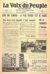 Voix Du Peuple De Touraine (La) N°1310 du 04/09/1966 - Couverture - Format classique