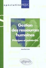Gestion Des Ressources Humaines Principes Et Points Cles - Intérieur - Format classique