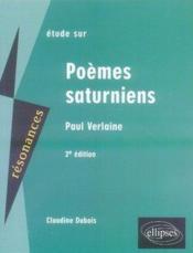 Étude sur poèmes saturniens (2e édition) - Couverture - Format classique