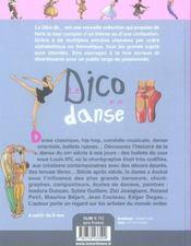 Le dico de la danse - 4ème de couverture - Format classique