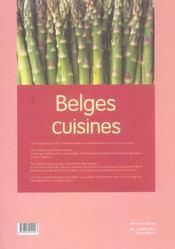 Belges cuisines - 4ème de couverture - Format classique