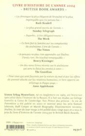 Staline ; La Cour Du Tsar Rouge - 4ème de couverture - Format classique