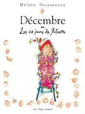 Décembre ou les 24 jours de Juliette - Couverture - Format classique