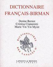Dictionnaire français-birman - Couverture - Format classique