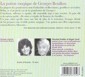 La potion magique de Georges Bouillon - 4ème de couverture - Format classique